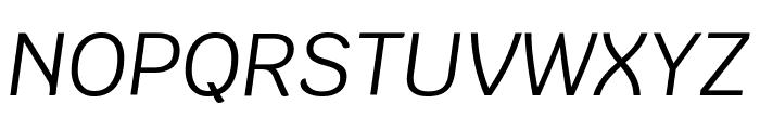 Krub Italic Font UPPERCASE