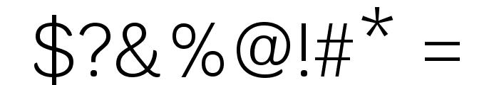 Krub Light Font OTHER CHARS