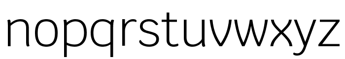 Krub Light Font LOWERCASE