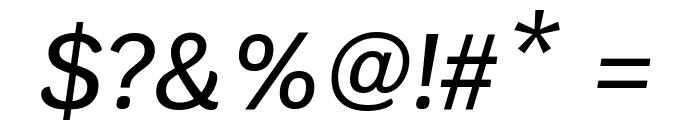 Krub Medium Italic Font OTHER CHARS