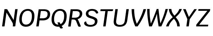 Krub Medium Italic Font UPPERCASE