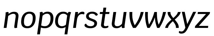 Krub Medium Italic Font LOWERCASE