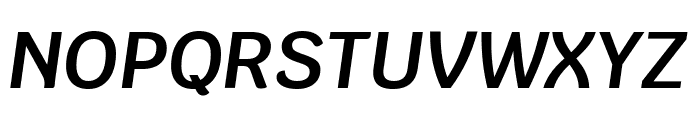 Krub SemiBold Italic Font UPPERCASE