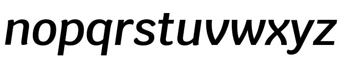 Krub SemiBold Italic Font LOWERCASE