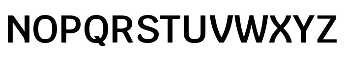 Krub SemiBold Font UPPERCASE