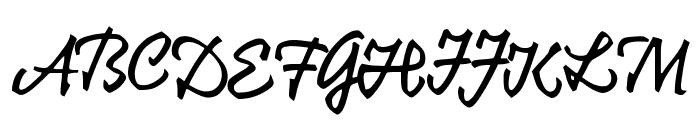 KrugmannBrush Font UPPERCASE