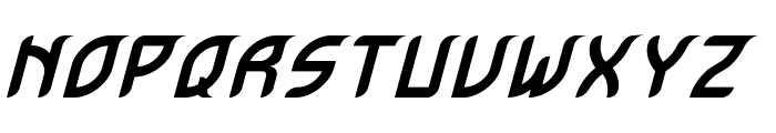 Krugovis-Italic Font UPPERCASE