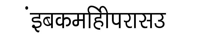Kruti Dev 040  Thin Font LOWERCASE