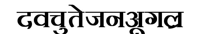 Kruti Dev 100  Bold Font LOWERCASE