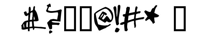 Krylon Gothic Font OTHER CHARS