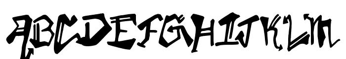 Krylon Gothic Font UPPERCASE