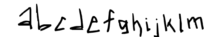 kR3WgZ_with_a_3 Font LOWERCASE