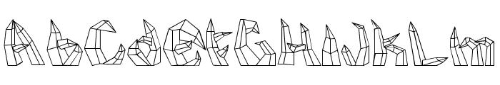 kristall Font UPPERCASE