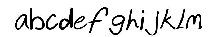 kristenshandBold Font LOWERCASE