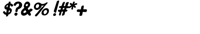 Kruede Regular Oblique Font OTHER CHARS