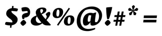 Krete Black Italic Font OTHER CHARS