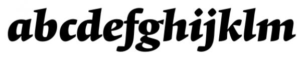 Krete Black Italic Font LOWERCASE