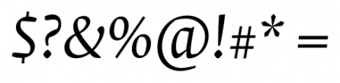 Krete Book Italic Font OTHER CHARS