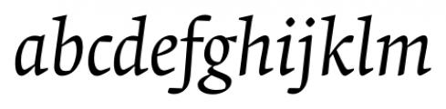 Krete Book Italic Font LOWERCASE
