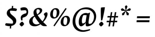 Krete Medium Italic Font OTHER CHARS