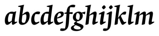Krete Medium Italic Font LOWERCASE