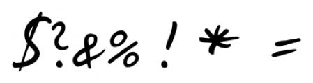 Kris Handwriting Pro Regular Font OTHER CHARS