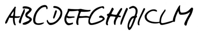 Kris Handwriting Pro Regular Font UPPERCASE