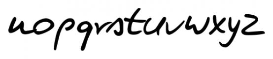 Kris Handwriting Pro Regular Font LOWERCASE