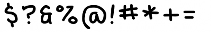 Kralhand Light Font OTHER CHARS