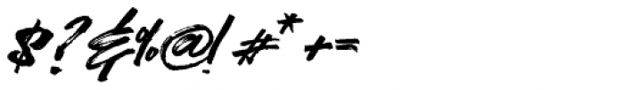 Kreakers Brush Regular Font OTHER CHARS