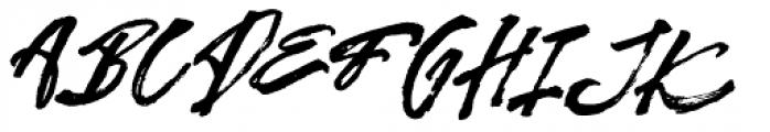 Kreakers Brush Regular Font UPPERCASE