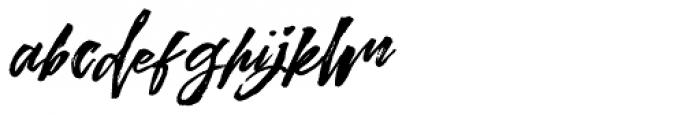 Kreakers Brush Regular Font LOWERCASE