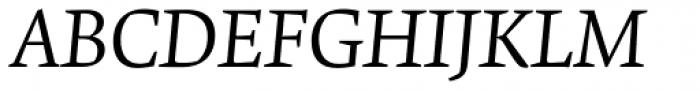Krete Book Italic Font UPPERCASE