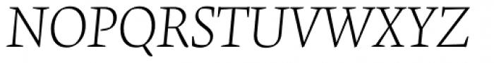 Krete Light Italic Font UPPERCASE