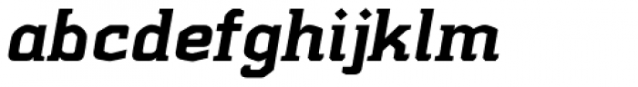 Kridpages Black Italic Font LOWERCASE