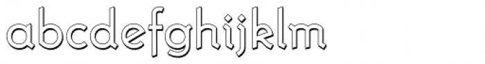 Krimhilde A Display Shadow Regular Font LOWERCASE