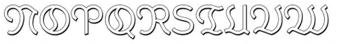Krimhilde B Display Shadow Regular Font UPPERCASE