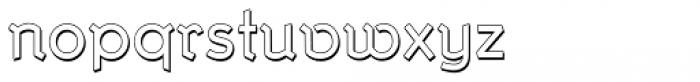 Krimhilde B Display Shadow Regular Font LOWERCASE