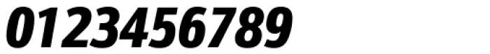 Kronos Sans ME Condensed Black Italic Font OTHER CHARS