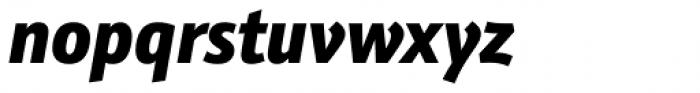 Kronos Sans ME Condensed Black Italic Font LOWERCASE