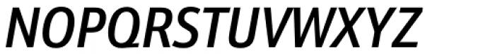 Kronos Sans Pro Condensed Medium Italic Font UPPERCASE