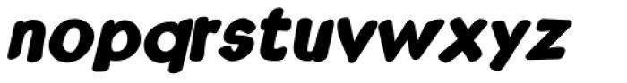 Kruede Bold Oblique Font LOWERCASE