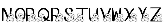 Ks Coppers Teddy Bears Regular Font UPPERCASE