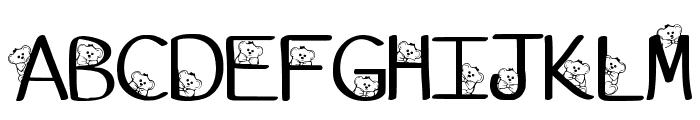 Ks Coppers Teddy Bears Regular Font LOWERCASE