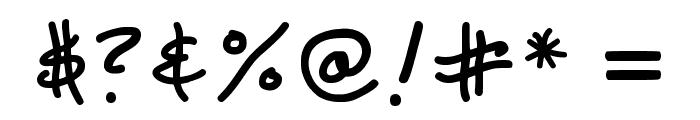 Ks Dont Blame Me Regular Font OTHER CHARS
