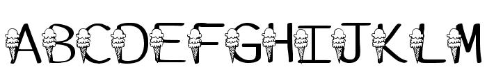 Ks Ice Cream Party Regular Font LOWERCASE