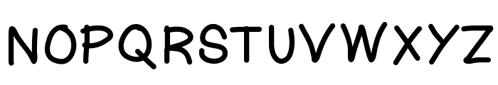 KtnFingerwriting Font UPPERCASE