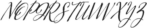 Kumma Condensed Italic otf (400) Font UPPERCASE