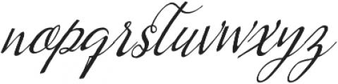 Kumma Condensed Italic otf (400) Font LOWERCASE