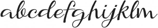 Kumma Regular otf (400) Font LOWERCASE